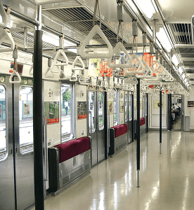 My head's favorite contact points: Handles in Japanese metro trains